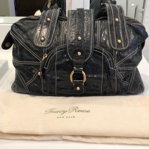 Tracy Reese distressed leather handbag